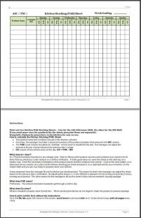 Restaurant Kitchen Prep Sheets restaurant kitchen stocking par sheet | dt | pinterest