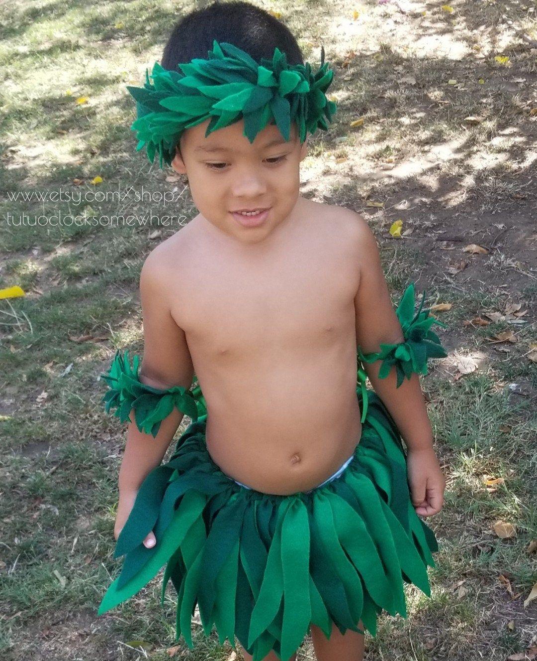 FUN FOR ALL! 4-Piece Set Maui Costume Lilo Costume Birthday Party Hawaiian Luau Tropical Moana Halloween Unisex 5K Baby Toddler Teen Adult #hawaiianluauparty