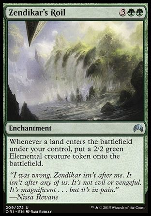 MTG Zendikar Commander NM Card Zendikar/'s Roil