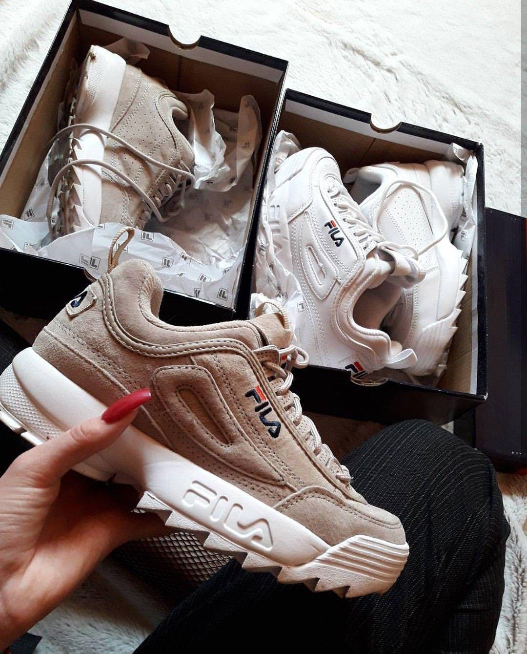 9663a379 FILA Disruptor in beige/creme // Foto: chlooe_grn |Instagram Обувь На  Каблуках