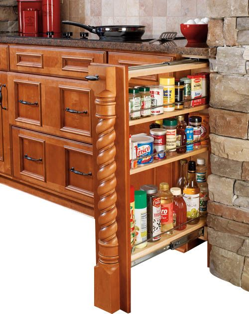 Rev A Shelf 432 Bf Wood Base Cabinet Pullout Filler From Kitchen Cabinets  Organizers