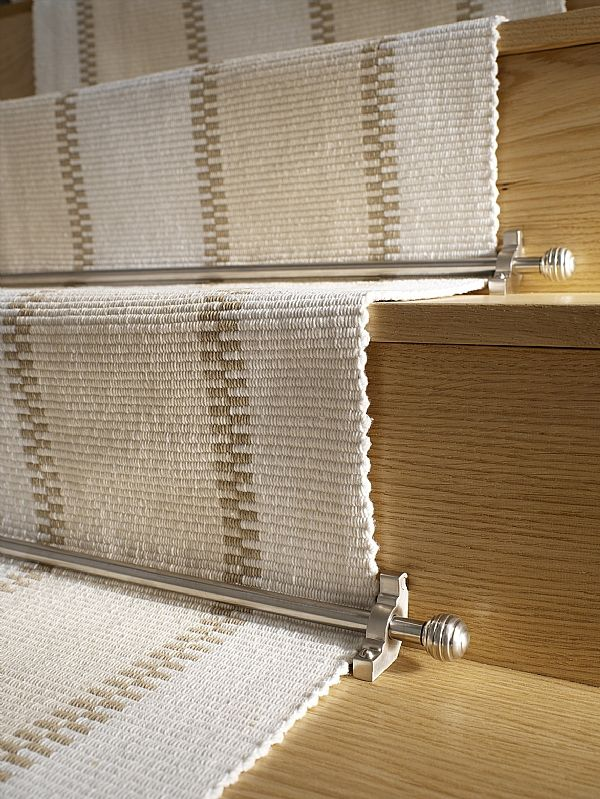 Charmant Neutral Runner With Rods   Finishes For The House   Pinterest   Stair Rods, Contemporary  Stairs And Quality Carpets