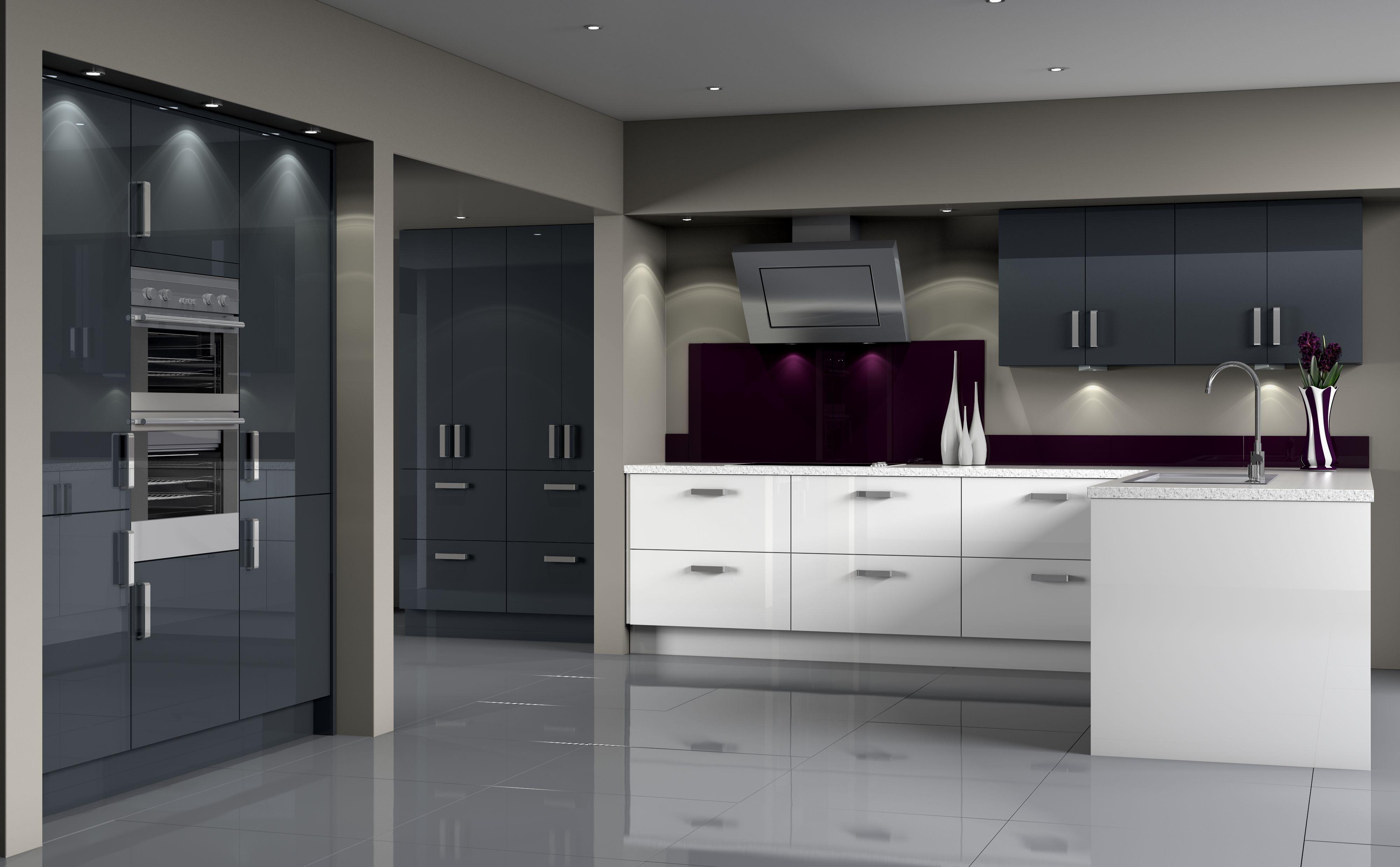 High Gloss Black Kitchen Cabinets Sandropainting Com Grey Kitchen Designs Grey Kitchen Cabinets Symphony Kitchen