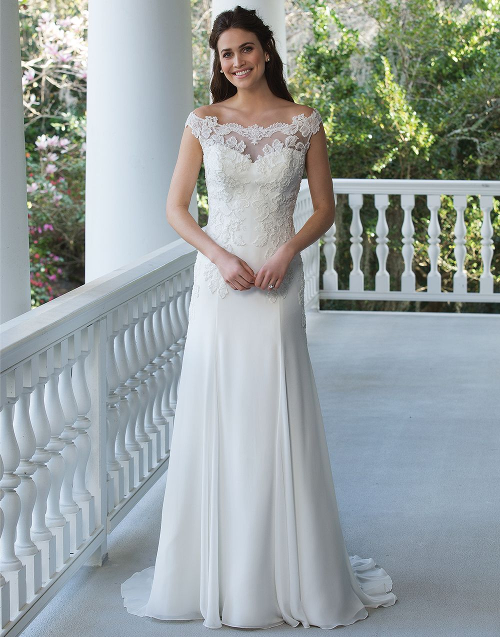 Sincerity wedding dress style 3950 The perfect amount of beaded ...