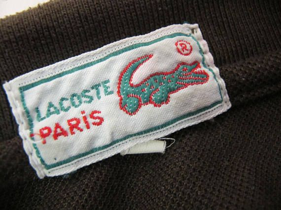 8eff8f7a15 Lacoste Polo Shirt LARGE Cotton Knit Shirt Olive Green | Hip Vintage ...