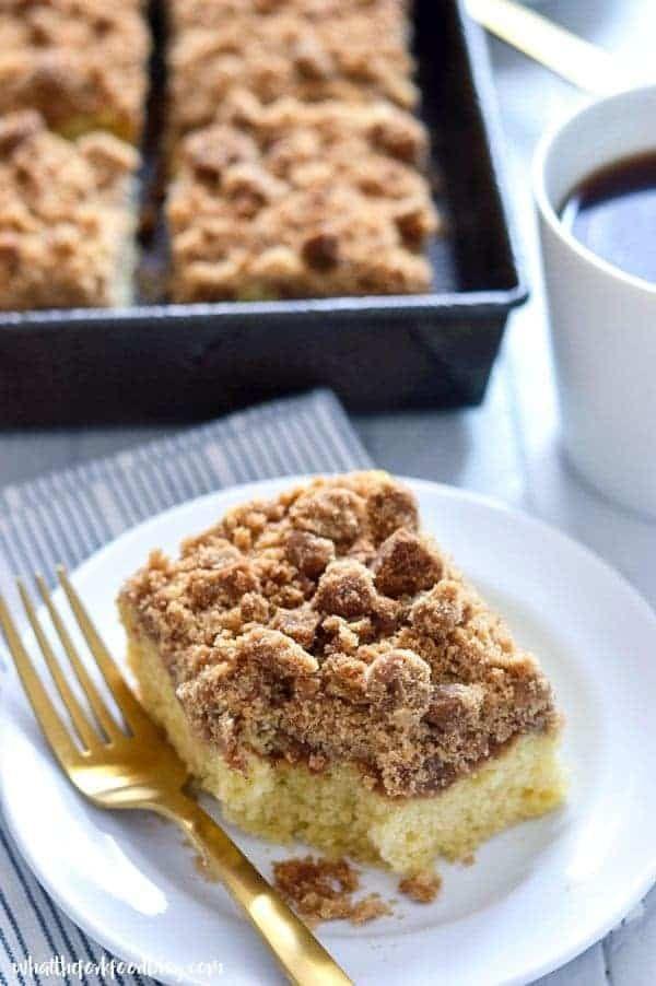 Gluten Free Cinnamon Coffee Cake #glutenfreebreakfasts
