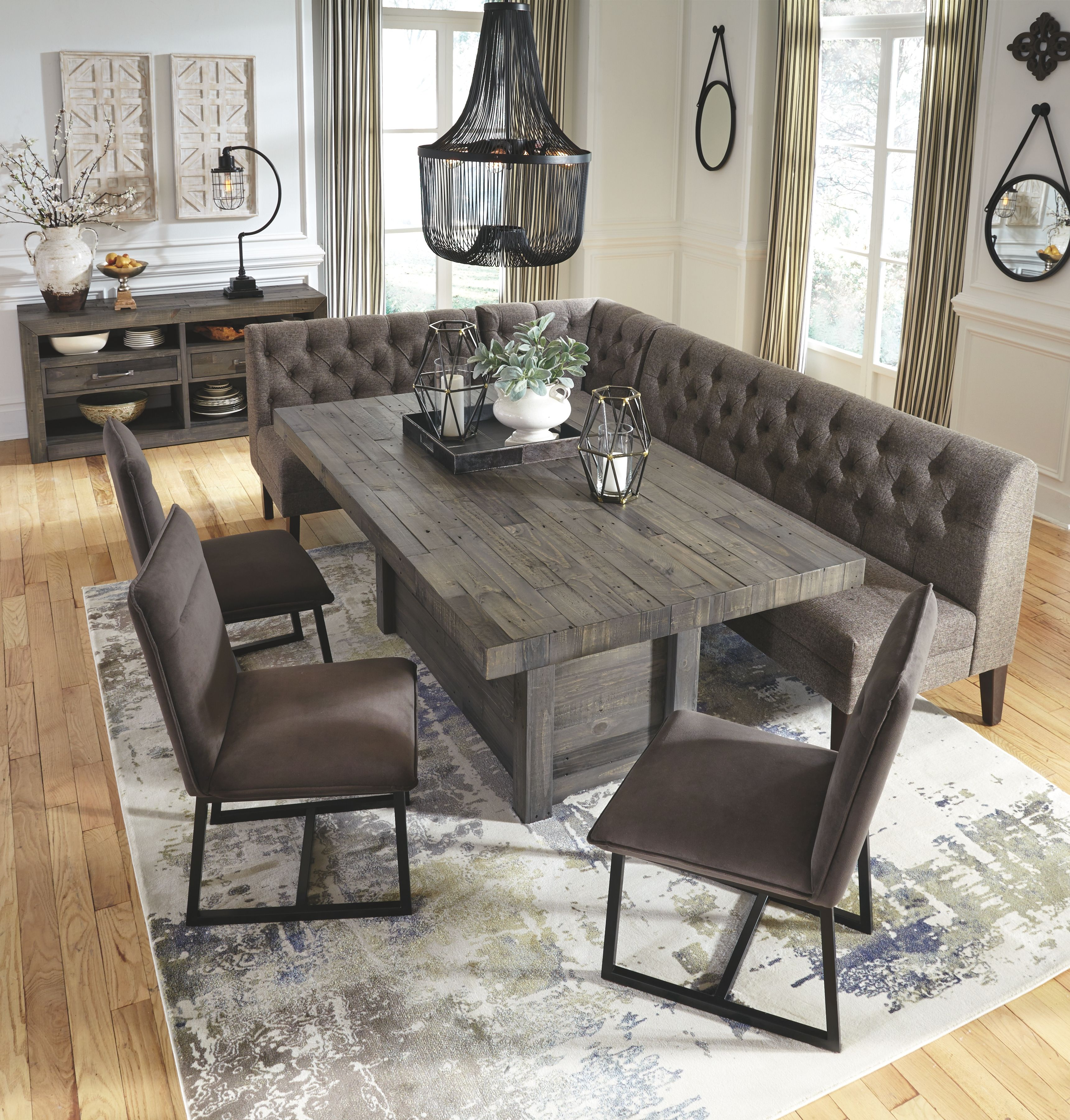 Mayflyn Dining Room Server, Charcoal in 2019 | Dining room ...