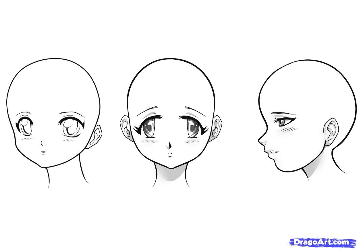 How to draw fantasy anime girls step by step anime heads for Steps to draw a girl