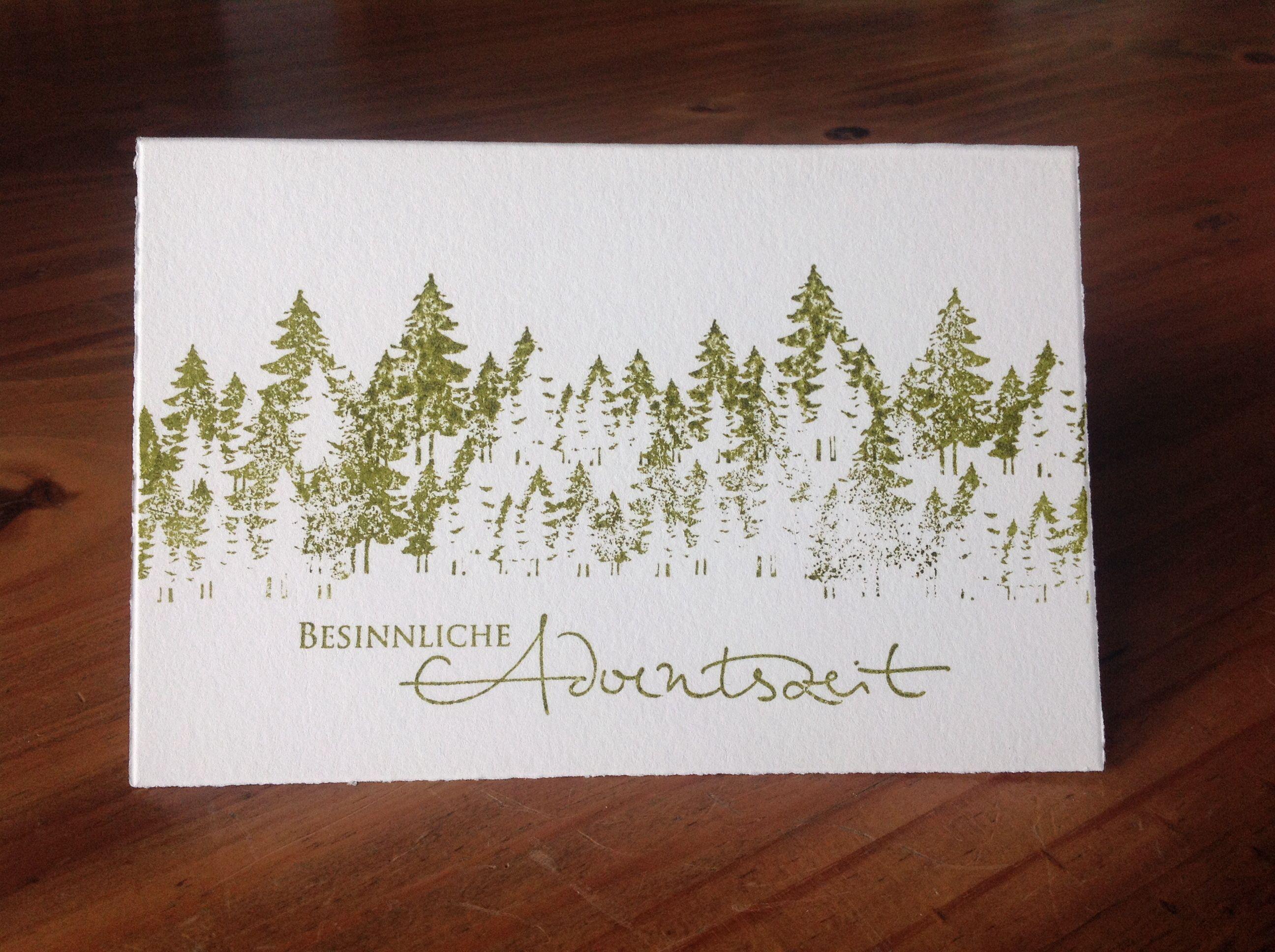 Weihnachtskarte tannenwald stempel alexandra renke meine weihnachtskarten pinterest - Amerikanische weihnachtskarten ...