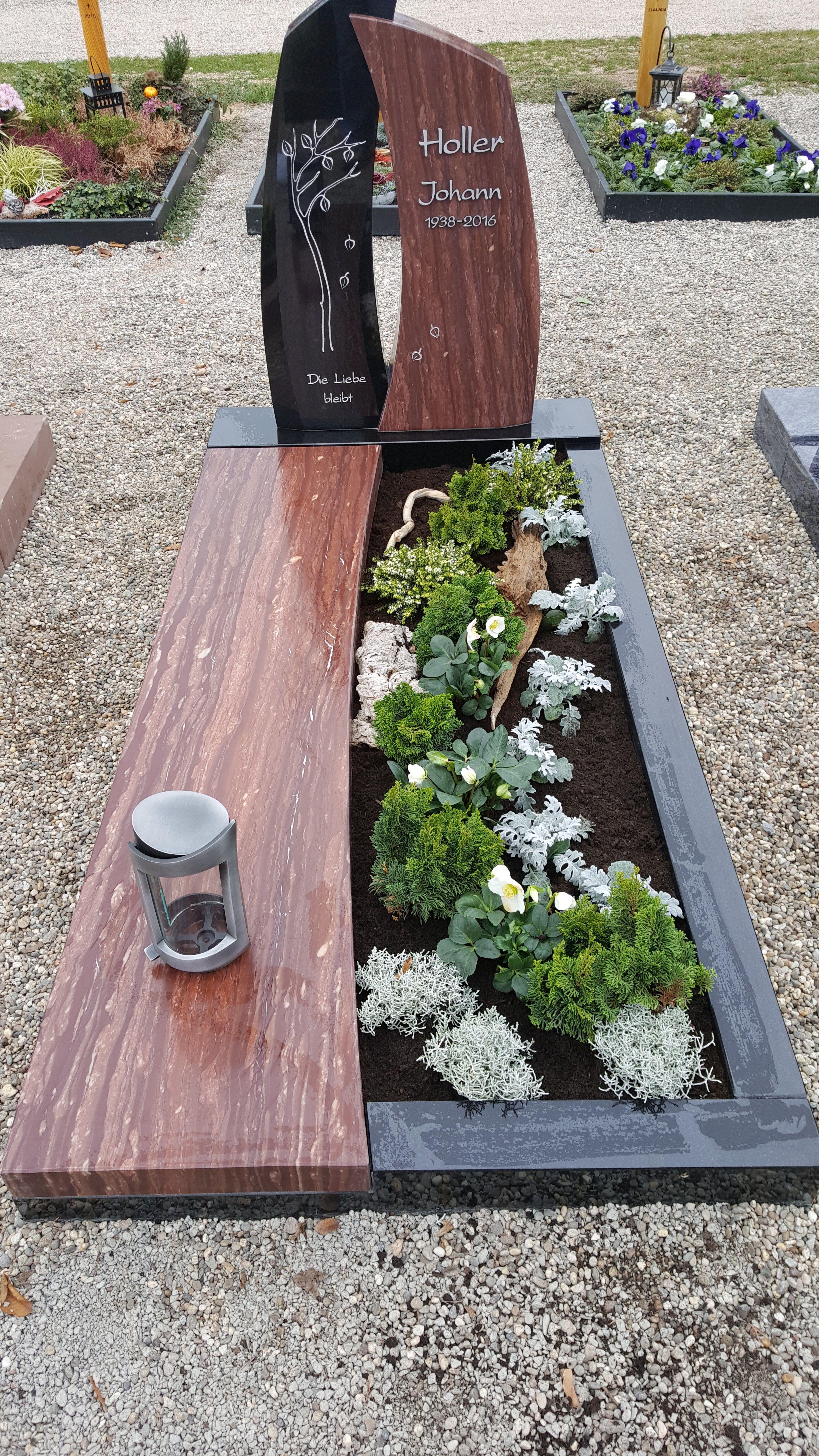 Grabstein mit Baum #friedhofsdekorationenallerheiligen