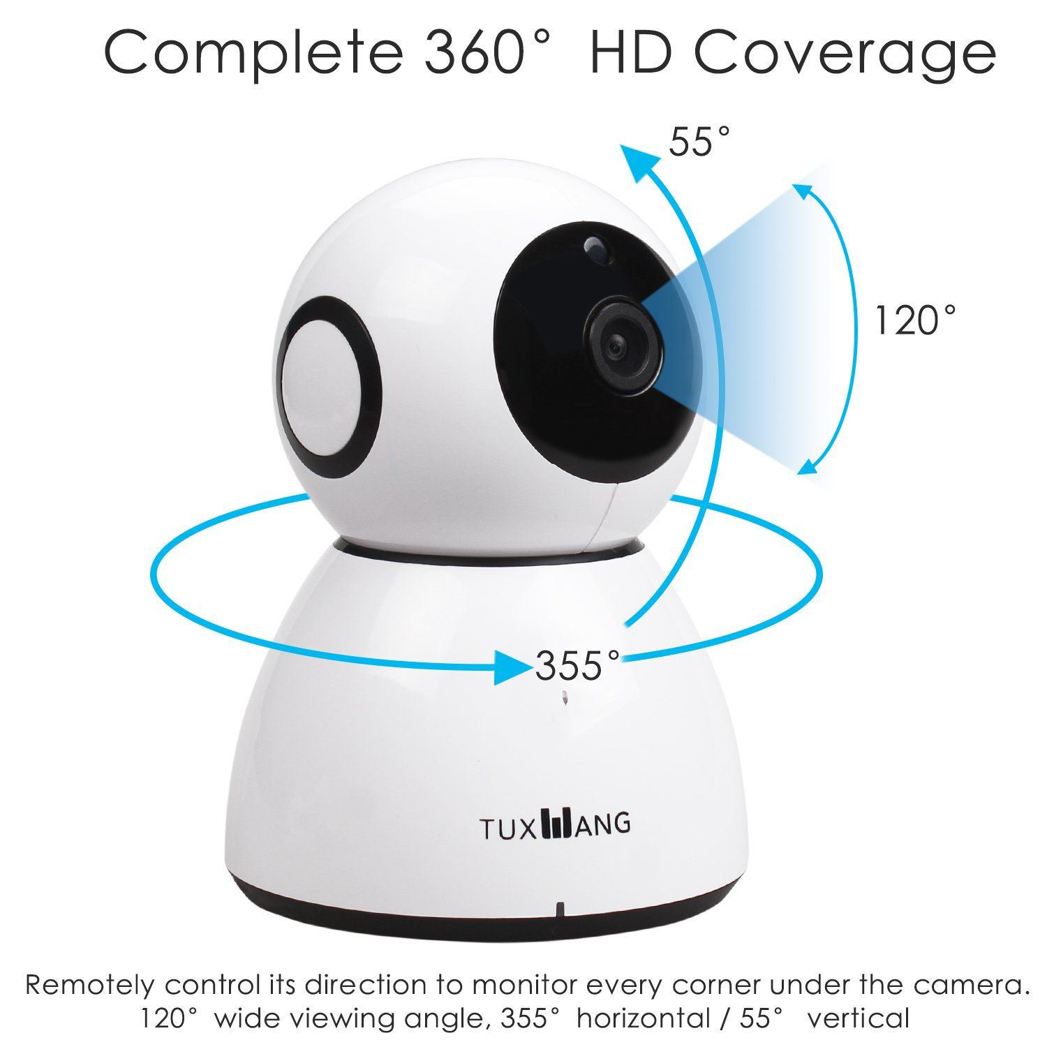 Baby Monitor Wireless WIFI HD 1080P Security Camera Pan Tilt Video Night Vision