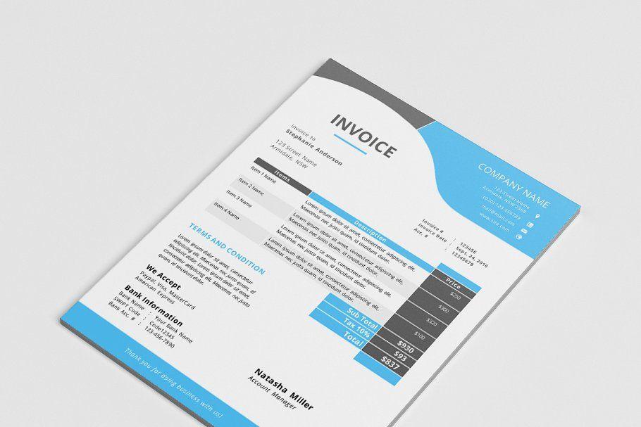 Docx Business Corporate Invoice Corporate Business Docx Templates