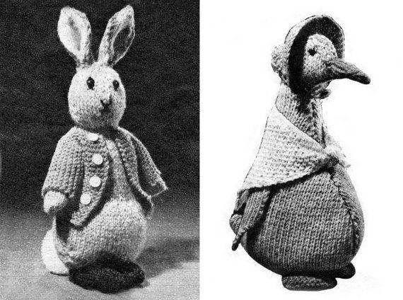 Pdf Peter Rabbit Jemima Puddle Duck Knitting Patterns Rare Retro