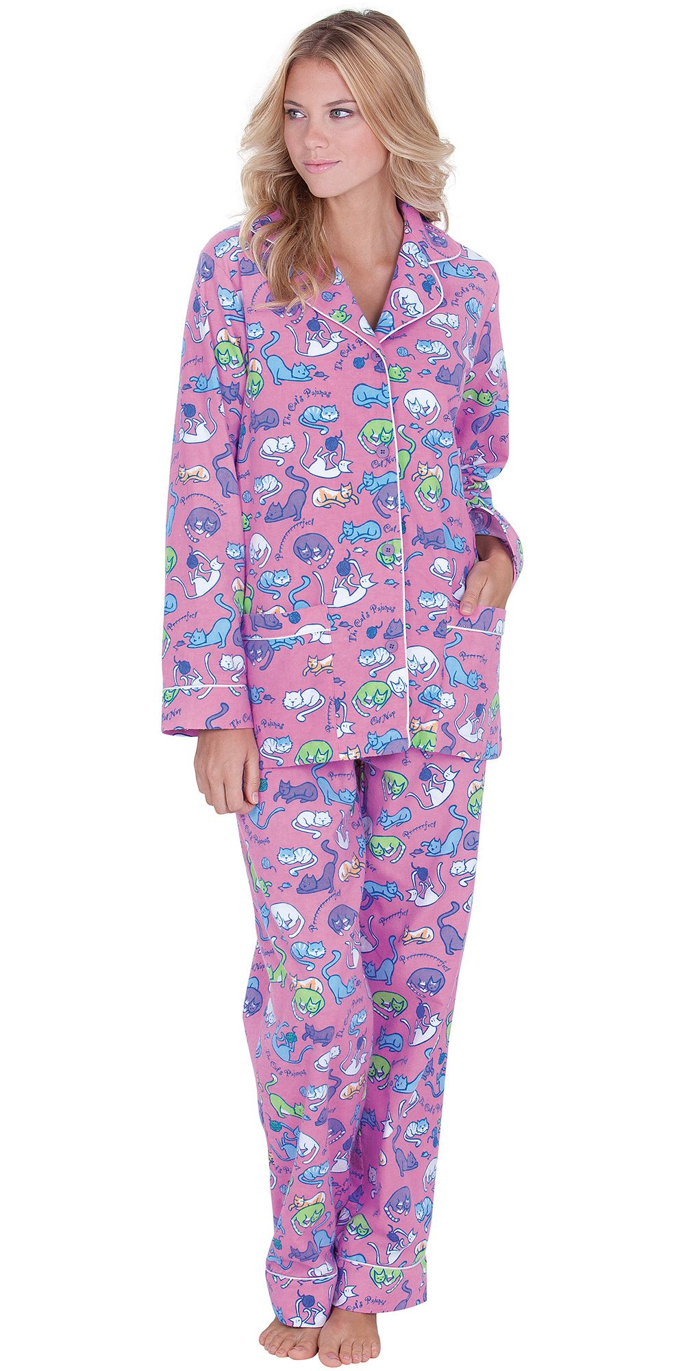 Cat Nap Flannel Pajamas in 2019  2a4159a8b8