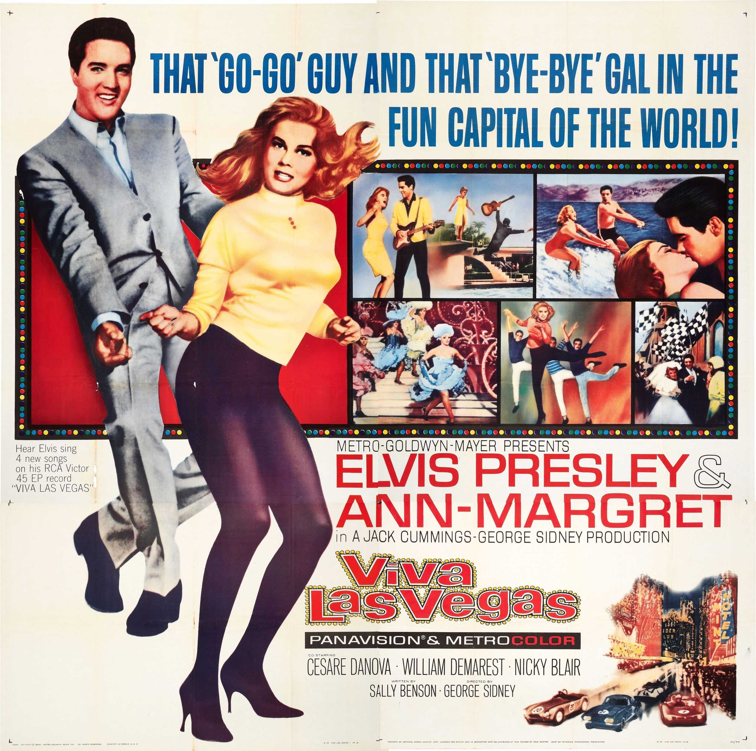 Elvis Presley Viva Las Vegas 1964 Lobby Card Elvis