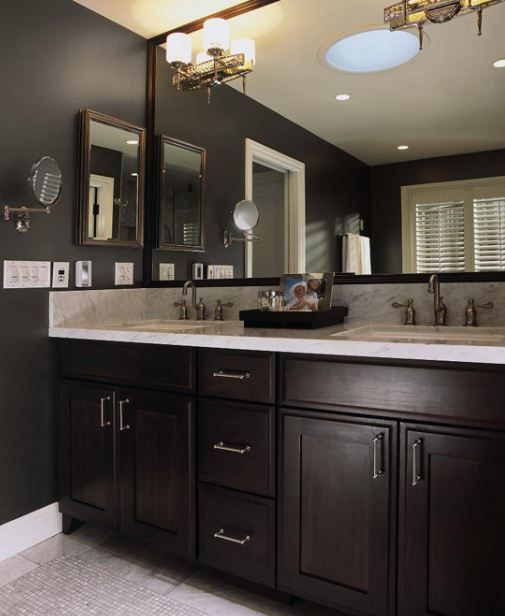 Dark Wood Tile Bathroom: Bathrooms With Dark Cabinets