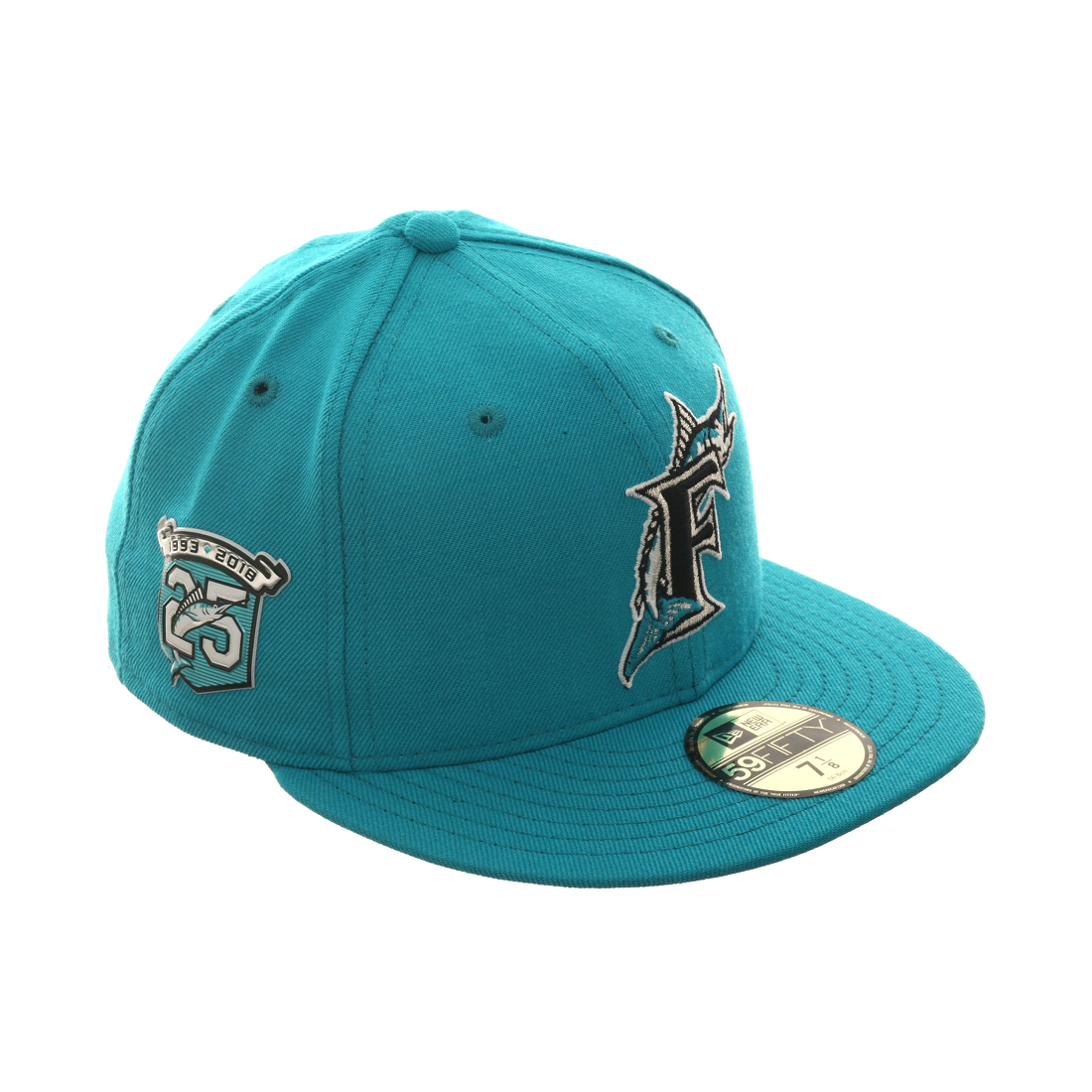 low priced ba5b6 4ff3b New Era 59Fifty Turn Back The Clock Miami Marlins 25th Anniversary Patch Hat  - Teal