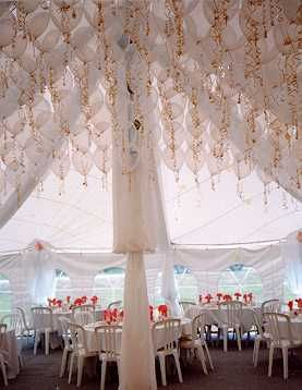 wow - in LOVE with this at once over-the-top yet subtle use of balloons for wedding reception decor