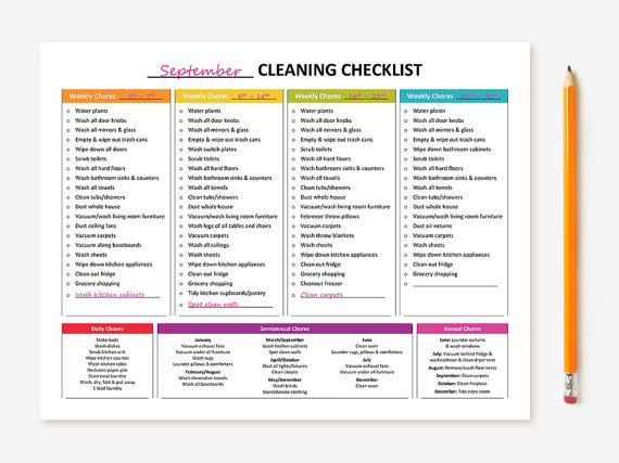 printable monthly cleaning checklist planning de nettoyage pinterest planning de nettoyage. Black Bedroom Furniture Sets. Home Design Ideas