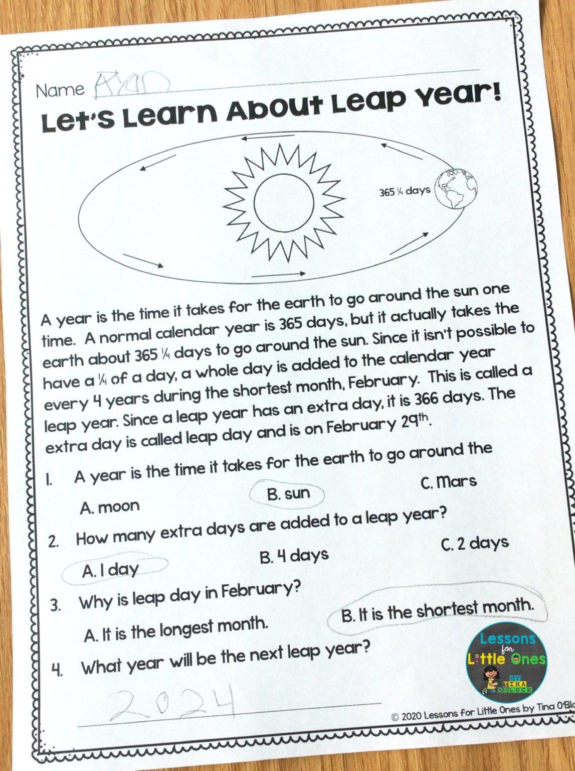Leap Year Activities Amp Bulletin Board
