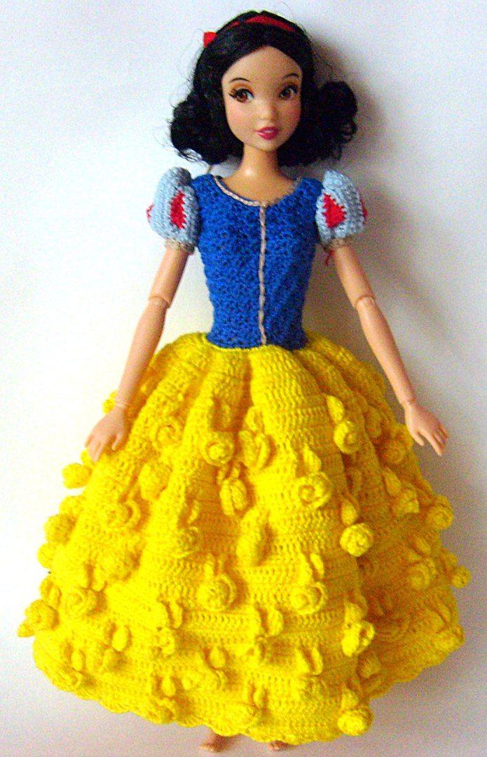 видео вязание платья для куклы барби