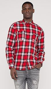 Checked shirt in red