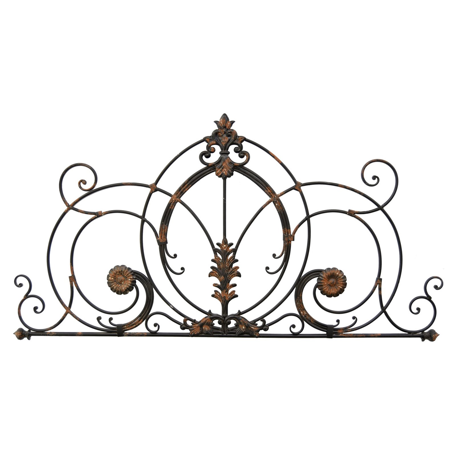 Three Hands Floral Metal Scroll Wall Accent In