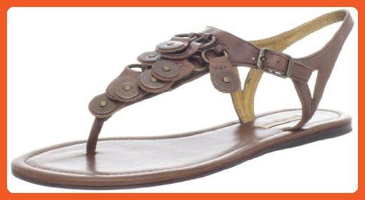 Evaliana Bohemia Beaded Flip Flops Clip Toe Sandals Slippers Beach Flat Summer Shoes Brown