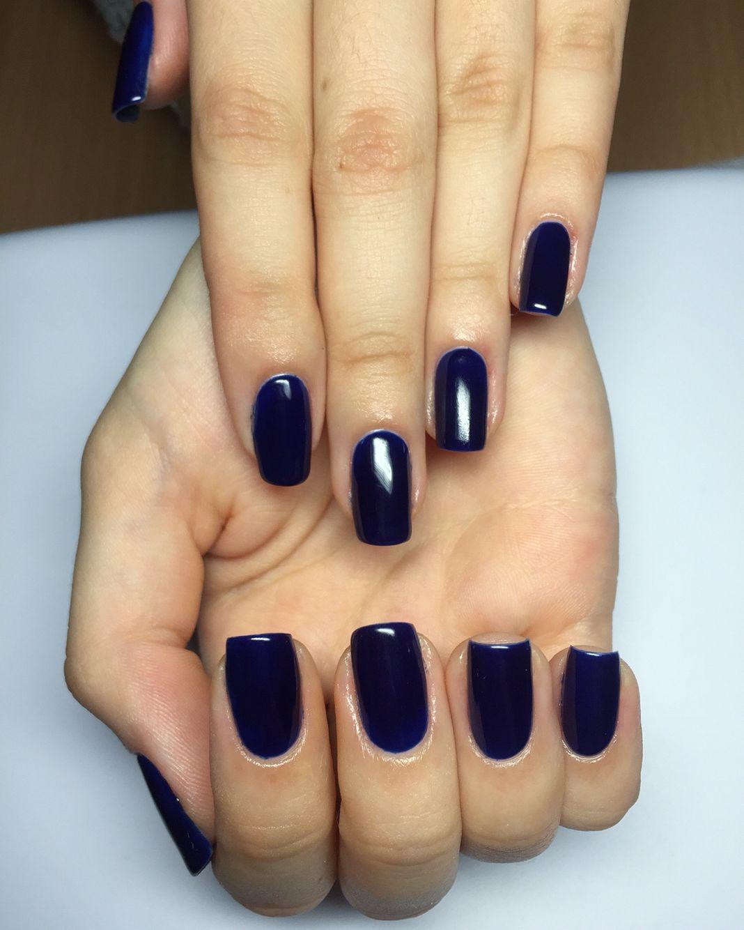 Dark Blue Gel Nails Nails Gel Nails Gel