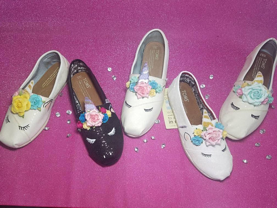 df02a498e695 Custom Sleeping Unicorn TOMS or Vans - Adult sizes - Great for birthday  parties