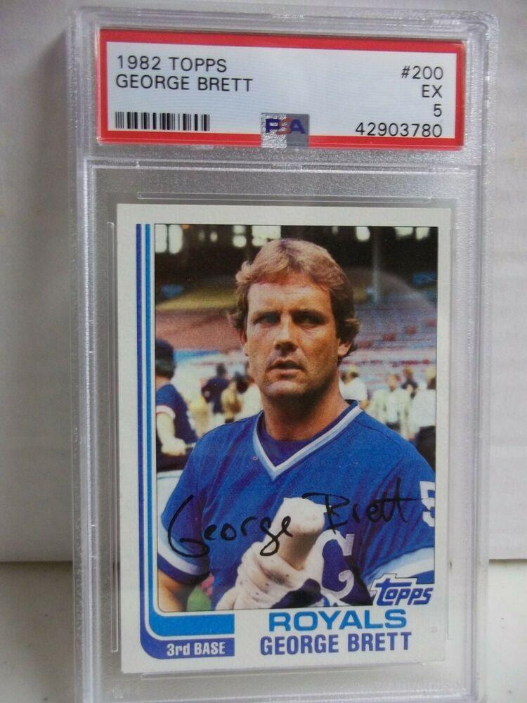 1982 topps brett psa ex 5 baseball card 200 mlb