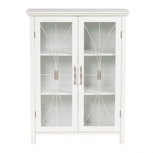 White Wall Storage Cabinet With Sliding Glass Doors | http ...