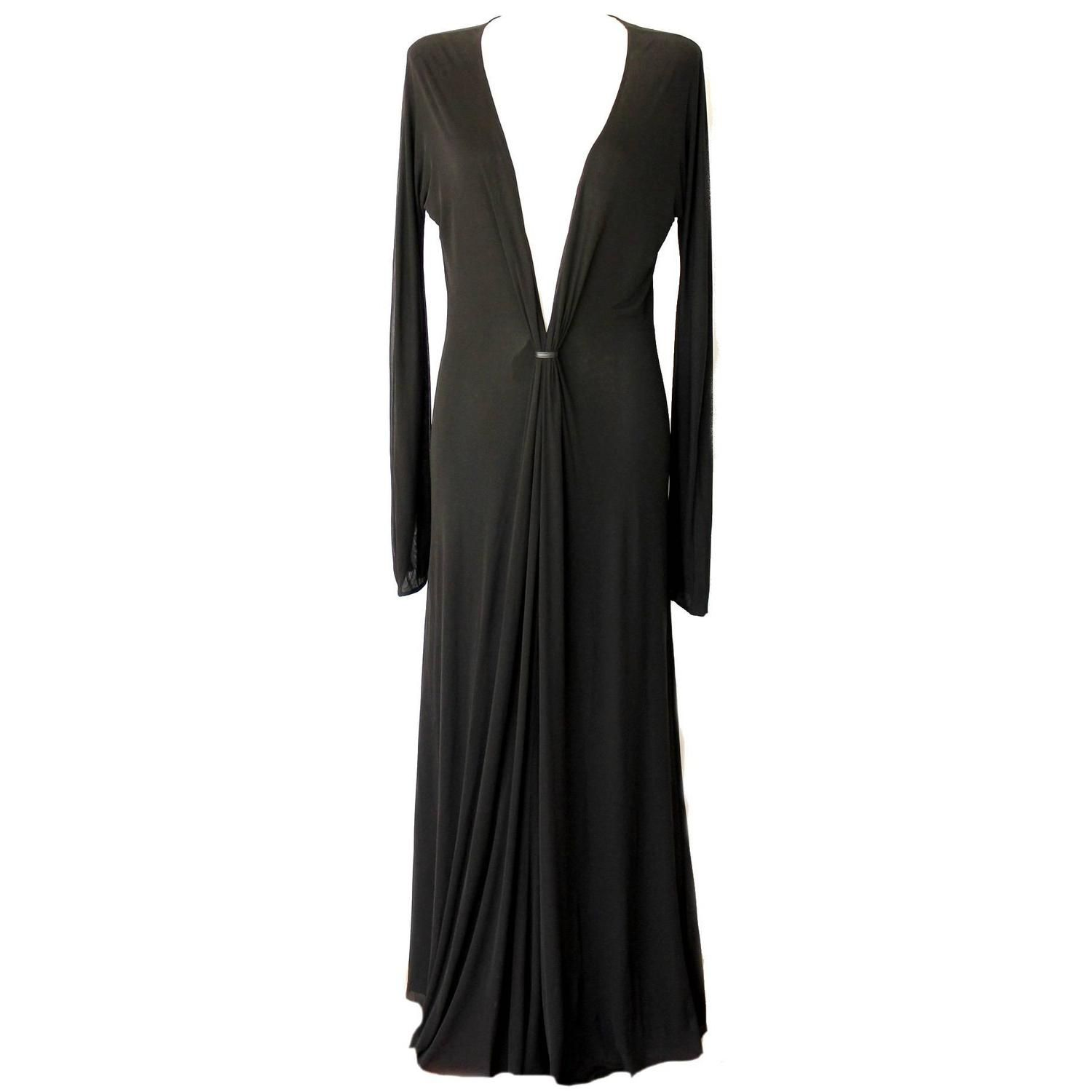 Unique gucci by tom ford evening gown fw long sleeve evening