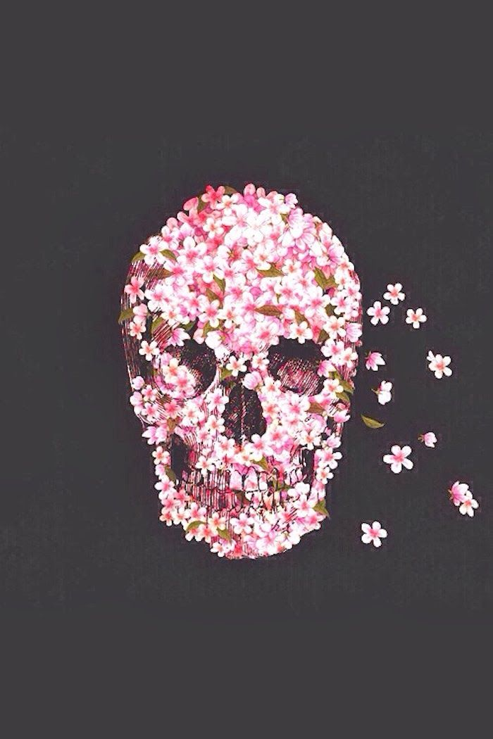 Goldie London Pretty In Pink Skull Wallpaper Phone Wallpapers Tumblr Skull