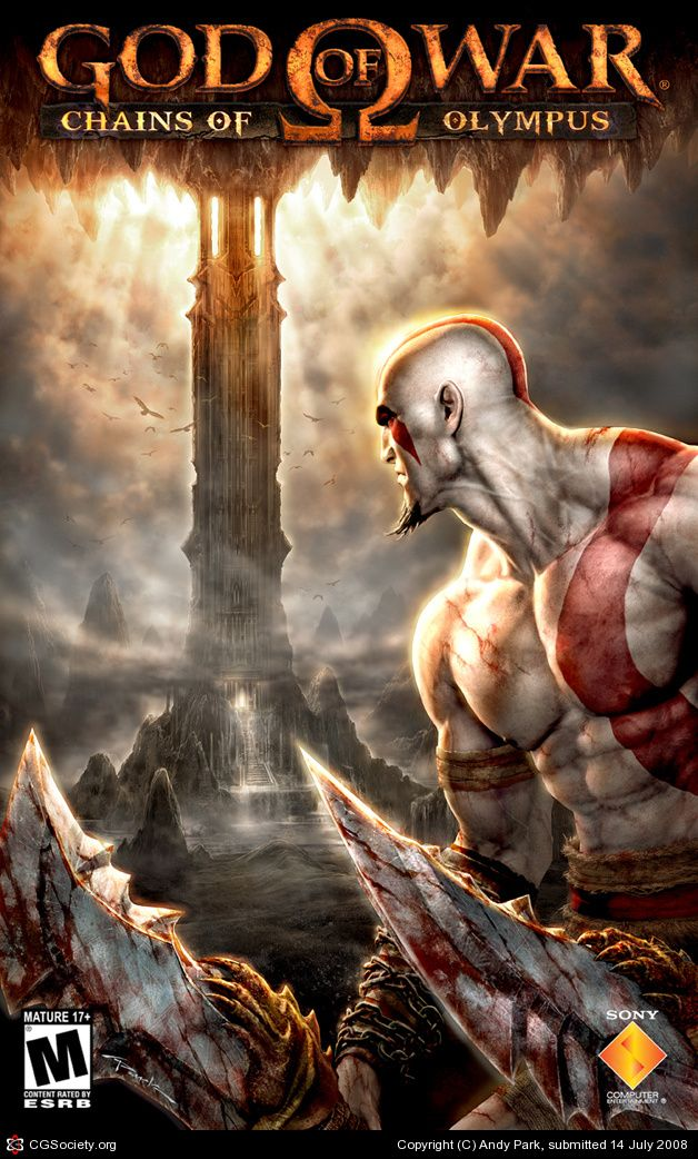 God Of War Chains Of Olympus Marketing Illustration 01 By Andy Park 2d Cgsociety Kratos God Of War God Of War God Of War Game