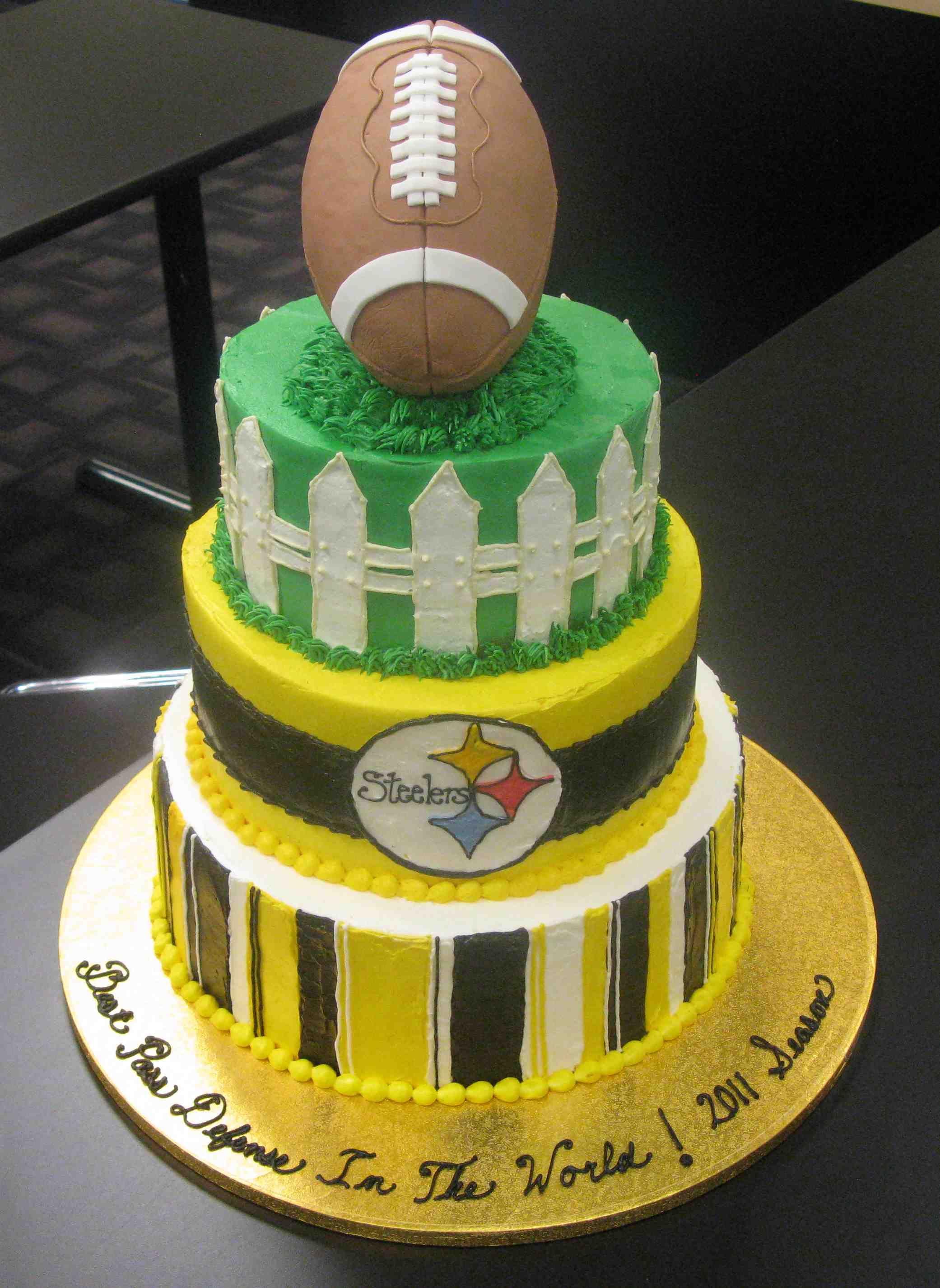 Pittsburgh Steelers Defense Cake Steelers nation Pinterest