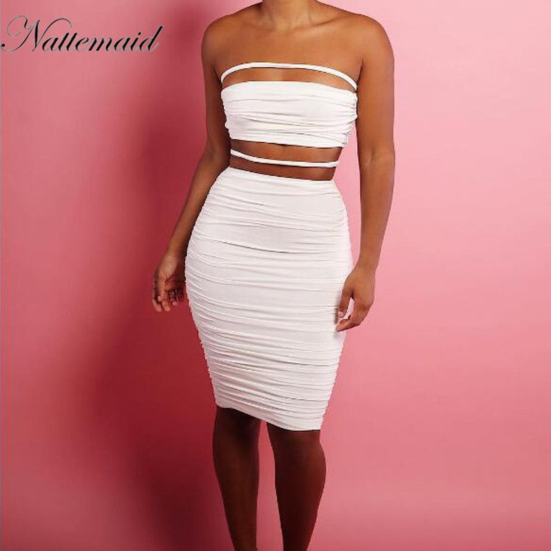 Aliexpress.com : Buy NATTEMAID bodycon Bandage sexy Dress women Two ...