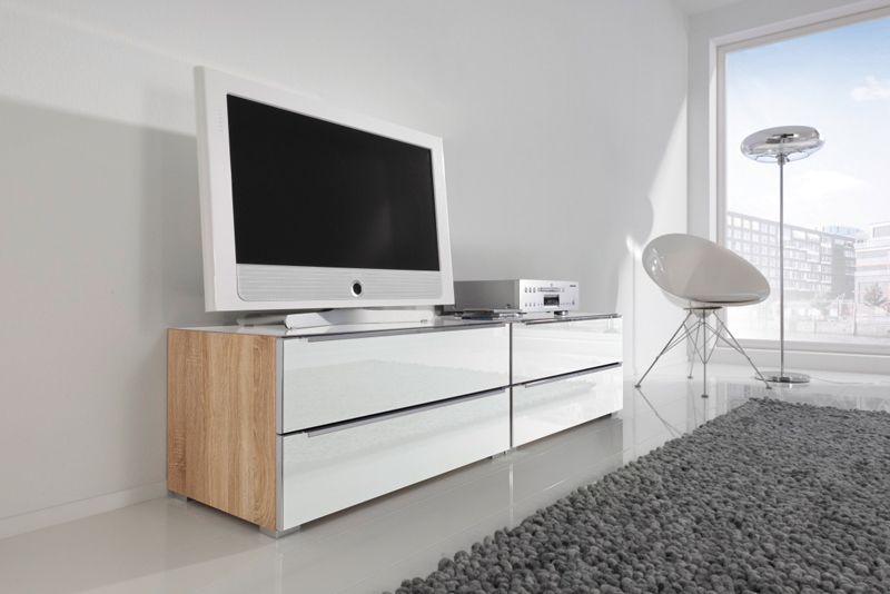 Kommode Alegro Style Sonoma-Eiche-Nb./Weißglas. Galerie - Nolte ...