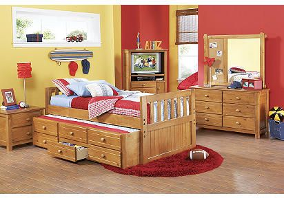 picture of bedford heights cherry 5 pc queen sleigh bedroom from