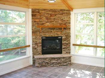 Want To Make A Diy Fireplace In The Corner Of My Future 4 Season Room To Heat It In The Winter