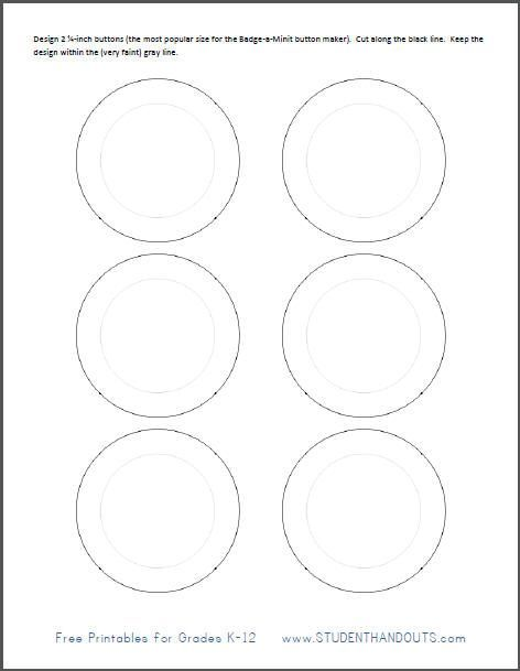 Badge-a-Minit 2 25-inch button maker template pattern to