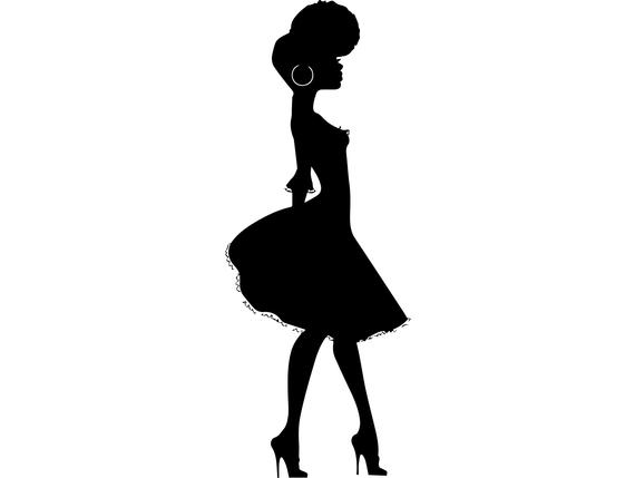 Afro Womansilhouette Fashion Glamour Classy Lady Female Afro Svg Eps Png Vector Glamour Fashion Classy Women Rasta Art