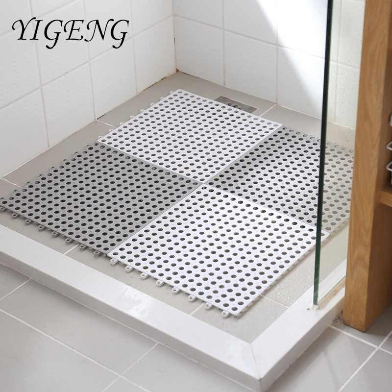 1pc Bathroom Carpet Shower Mat Non Slip Bath Mats Bathroom Square Pvc Bathmats For Home Kitchen Floor Mats For Toilet Bath Rug Aliexpress In 2020 Shower Mat Kitchen Mats Floor Kitchen Rug