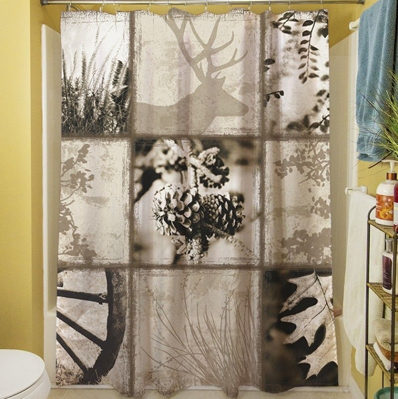 Lodge Rustic Shower Curtain