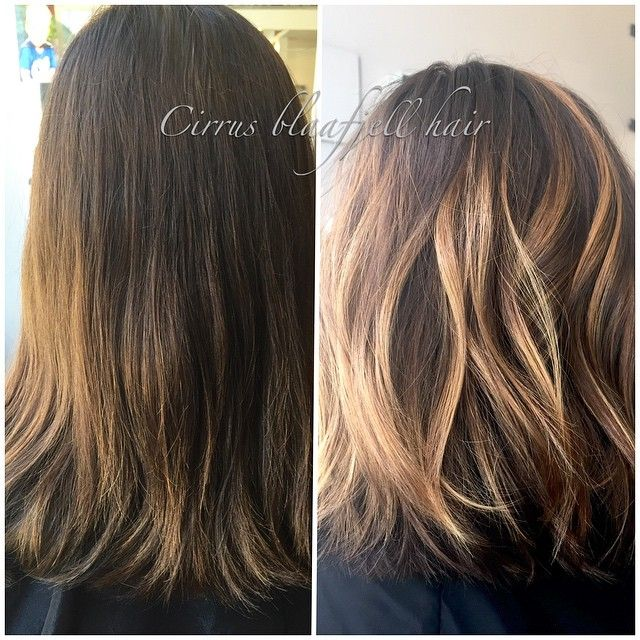 Natural light, first time client with quarter head balayage and Aline long  bob)