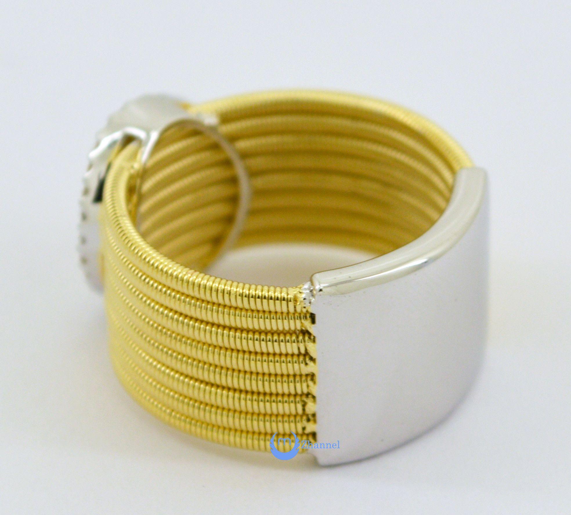 6821dd411218a Contemporary Spiral O Circle Gold Fashion Ring YOLANDA Sterling ...
