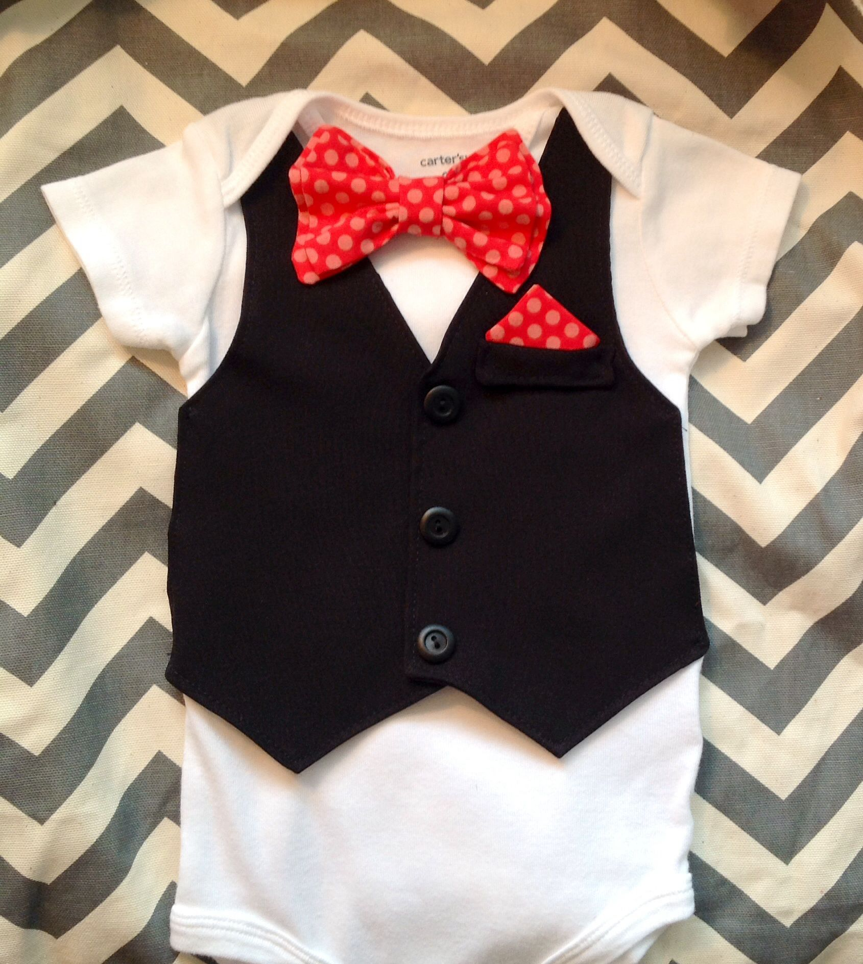 Coral baby vest with bow tie and pocket square onesie. This would be great for a wedding or convention. https://www.etsy.com/listing/190911331/comfortable-baby-boy-vestbow-tie-outfit?ref=shop_home_active_2
