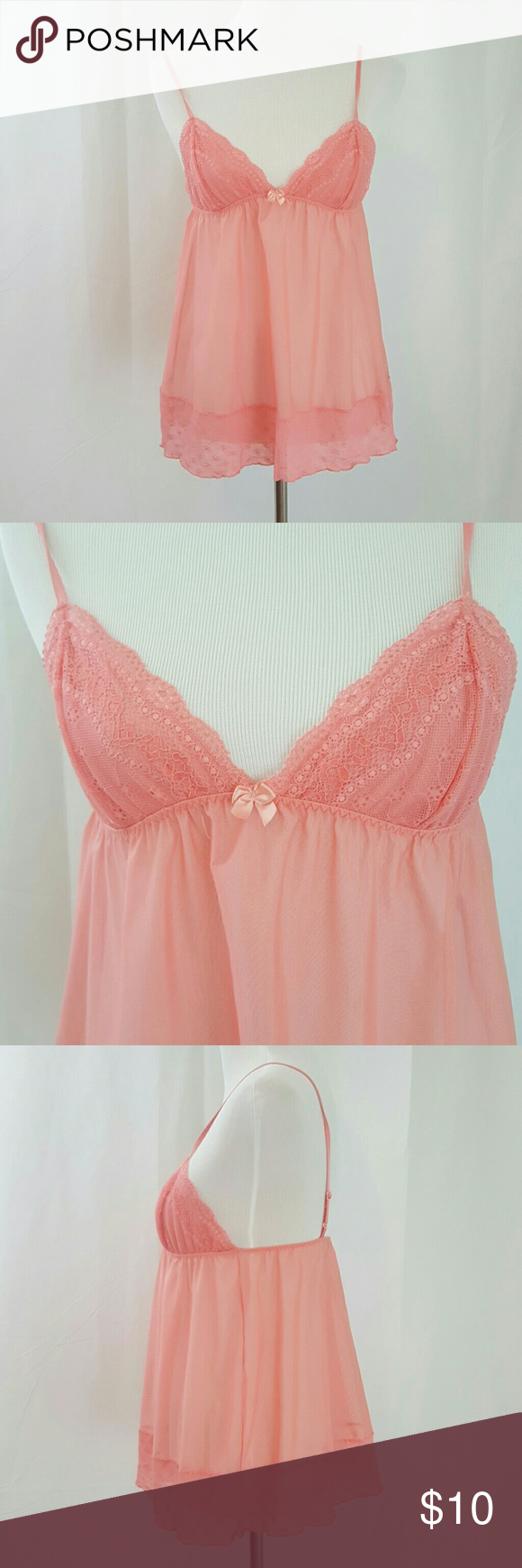 Victoriaus secret pink babydoll top s euc pink babydoll top it has
