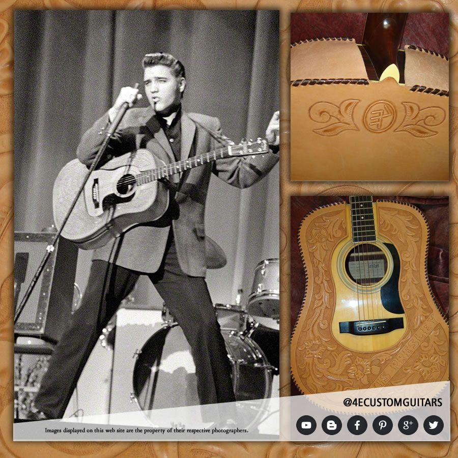 Elvis presley then amp now 25th anniversary collector s edition ebay - Elvis Presley D 28 Custom Leather Guitar Cover Acoustic American 4ecustomguitars Com