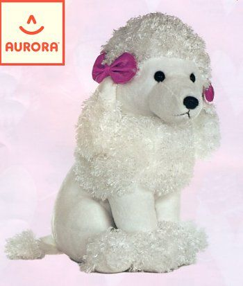 Aurora Sitting White Poodle Stuffed Animal Poodles Poodle Animals